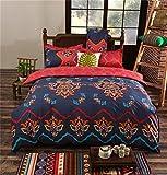 dushow 3-teiliges Bettbezug Sets Polyester Mikrofaser Bohemia exotischen Mustern Design Bettwäsche Sets/1Bettbezug mi