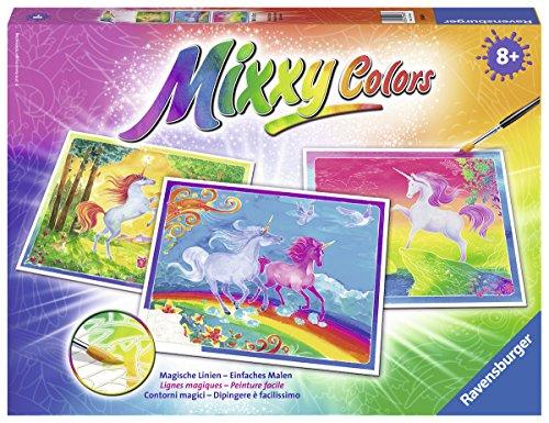 Ravensburger 29489 - Welt der Einhörner, Mixxy Colors Maxi Malset