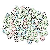 Schramm 100er Pack Flummis Fußball Design 27mm Flummis Springball Hüpfball Mitgebsel Tombola Kindergeburtstag