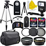#7: Professional Accessory Bundle Kit For Nikon D3300, D3200, D5000, D5100, D5200, D5300, D5500, D7000, D7100, D7200 & DSLR Cameras (52mm), 15 Nikon Accessories