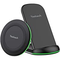 Yootech Wireless Charger, 2-Pack Max.10W Qi Ladestation induktives Ladegerät kabellos Pad Stand kompatibel mit iPhone 11…