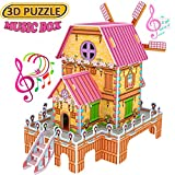 Best Creativity for Kids Gift For 6 Yr Old Boys - Magic 3D Puzzle Jigsaw Windmill Dollhouse Model DIY Review