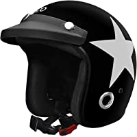 Habsolite HB-ESBG Ecco Star Open Face Helmet with Detachable Cap & Adjustable Strap for Men & Women Bike Motorcycle…