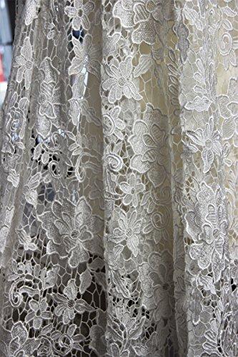 Yulakes Blumen Stickerei Ausschnitt Spitze Kragen Venedig Spitze Applique Patch Lace Trim Hochzeit Brautkleid Stoff DIY N/ähen