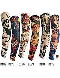 SHINA Tatuaje, mangas de tatuaje con diferentes estilos tatuaje temporal falso mangas del brazo (Tipo 4)