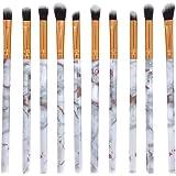 BIGBOBA Maquillage Brosse 10 Marbre Maquillage Pinceau Beauté Maquillage des Yeux Ombre Beauté Kit Taille 13.5 * 1.5 cm (Ensemble Vendu)(Blanc)