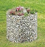 Hochbeet Gabione Gabionen 92 cm Höhe 80 cm Gartendekoration inkl. Trennfolie