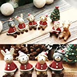 Bargain World Boda de la Navidad encantadora decoración de animal de santa regalo de resina mono mobiliario de decoración de casa