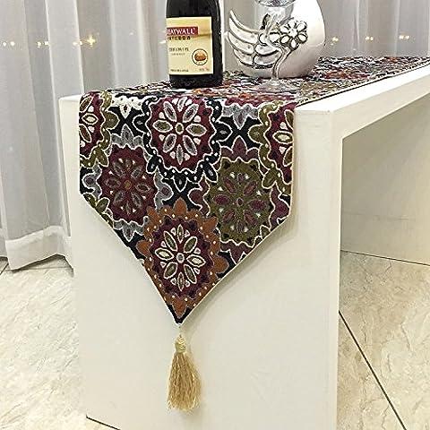 Cotone etnico wind-simbolo del fiocco di neve tavolo da tè caffè tavola arte retro bar tovaglia tavola Decorazioni di Natale Halloween-YU&XIN