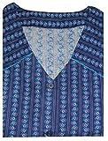 Tobeni Damen Kittelschürze Knopf-Kittel in 100 Baumwolle ohne Arm mit Taschen Farbe Design 12 Grösse 58