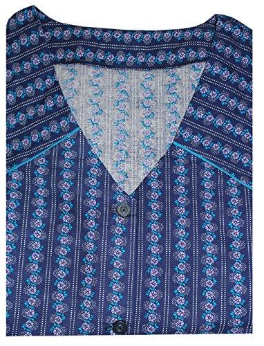 2 Armee Der Kostüm (Tobeni Damen Kittelschürze Knopf-Kittel in 100 Baumwolle ohne Arm mit Taschen Farbe Design 12 Grösse)