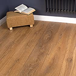 Brooklyn Trading 2.22m2 - Heavy Domestic and General Commercial Use Kitchen/Bedroom/Hallway Laminate Flooring - Harlech Oak Effect 8mm