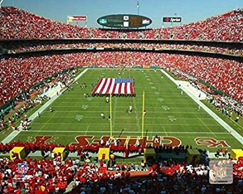 Arrowhead Stadium (KC Chiefs) - Daytime Photo Print (27,94 x 35,56 cm)