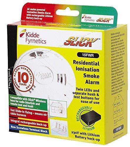 KIDDE-Rilevatore di fumo a ionizzazione 1SFWR corrente SLICK, 10 [1] (Epitome certificato)