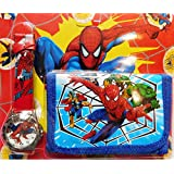 Grapple Deals New Cartoon Character The First Kids Boys Wrist Watch With Purse Wallet Set For School Going Baby Kids.