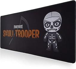 Mauspad gaming Fortnite XXL 900x400mm SKULL TROOPER gleitet Schädel-Reiter-Design groß für Laptop, Computer, nicht Gummi stützt ideales Geschenk für Junge-Mädchen-Kinder