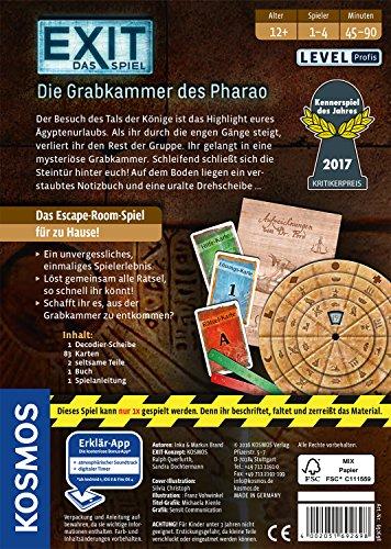 KOSMOS-Spiele-692698-Exit-Das-Spiel-Die-Grabkammer-des-Pharao-Kennerspiel-des-Jahres-2017