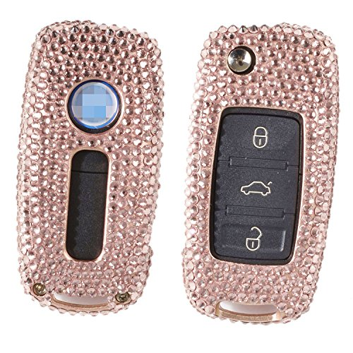 mjvisun-handmade-car-key-fob-cover-for-vw-volkswagen-2-3-buttons-remote-key-folding-flip-key-diamond