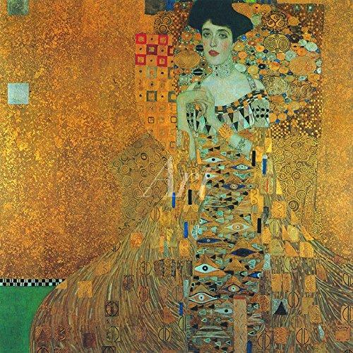 Artland Alte Meister Glasbild Gustav Klimt Bilder Kunst 50 x 50 cm Portrait von Adele Bloch-Bauer Wandbild Art Nouveau & Jugendstil K0TC
