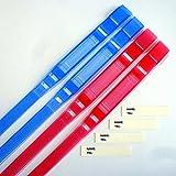 CombiSet 4x SOS Sicherheit Notfall Armbänder für Kinder und Erwachsene, wiederverwendbar, anti-allergisch, 2x2 Farben, rot und blau