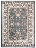 Traditioneller Klassischer Teppich für Ihre Wohnzimmer - Dunkel Grün Creme - Perser Orientalisches Muster - Ferahan-Ziegler Ornamente - Top Qualität Pflegeleicht