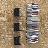 A10 Shop Zeta Metal Shelves Invisible Wall Mount Bookshelves- Black (Set of 3)