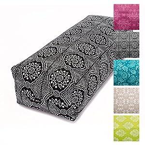 Yoga Bolster SALAMBA, rechteckig, Bezug aus Baumwolle abnehmbar, Dinkel-Füllung, Yoga Zubehör für Restorative Asanas und Yin Yoga