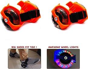 Wembley Toys Street Gliders Roller Skates, LED Light-up Wheels (2 Wheels) (Orange)