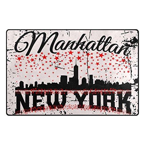 Benni giry New York CTY Rango Alfombra antideslizante Diario de DF920felpudos para salón dormitorio 78,7x 50,8cm, poliéster, multicolor, 60 x 39 inch