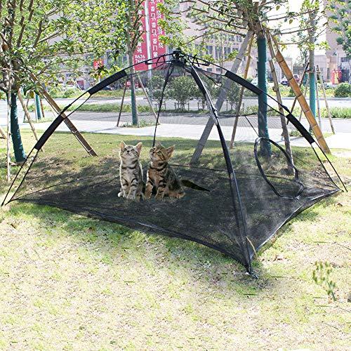 HI SUYI Pet Comfort PE-Zelt für Katzen, Tragbare große Pop-Up-Haustier Zelt-Einschließungen draußen Lebensraum Hunde Accessoire katzenzelt Outdoor hundetippi Katzenhöhle -