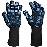 Best Guantes Grill - GEEKHOM Guantes Horno, BBQ Grill Gloves, Guantes de Review