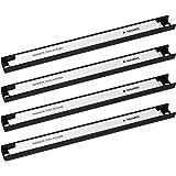 Navaris Imanes para herramientas - 4x Barra magnética para herramientas 30.5 x 2.3 CM - Set bandas imantadas para cocina gara