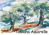 Toskana Aquarelle (Wandkalender 2018 DIN A4 quer): Landschaftsaquarelle der Toskana (Monatskalender, 14 Seiten ) (CALVENDO Natur) [Kalender] [Apr 01, 2017] Krause, Jitka - Jitka Krause