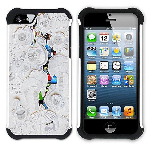 Graphic4You Curves On Canvas Digital Art Muster Design Hart + Weiche Kratzfeste Hülle Case Schale Tasche Schutzhülle für Apple iPhone SE / 5 / 5S Design #9