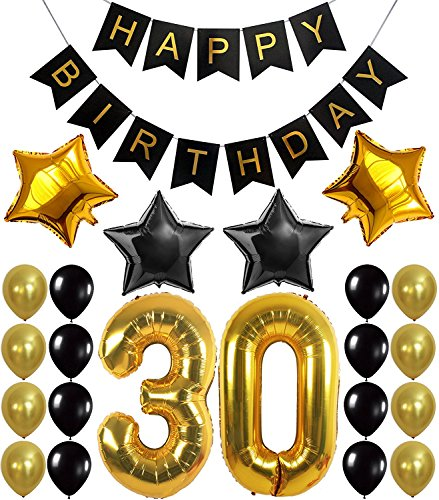 30th Birthday Party Decorations Kit - All you need!