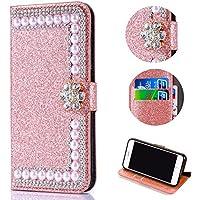 Shinyzone Glitzer Brieftasche Hülle für iPhone XR, Luxus Diamant 3D Blume Magnetverschluss [Standfunktion] Bling... preisvergleich bei billige-tabletten.eu