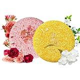 2x Shampoo Solido, 100% Naturale Shampoo Bar Sapone per capelli secchi danneggiati e trattati, Essenza Vegetale Vegetariana B