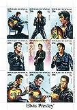 Elvis Presley Briefmarken - Singen und Gitarre spielen - Mint und postKleinBogen mit 1 Briefmarke
