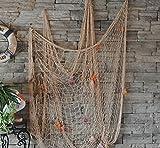 SECOWEL Deko Fischernetz Maritime Dekoration Fotografie Prop mit Farbigen Muscheln Mediterranen Stil Fischerei Dekorative Netze (Weiss)