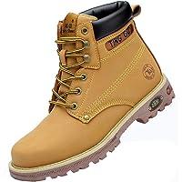 Ting Gu Toe en Acier Bottes de sécurité pour Hommes Chaussures de Travail en Cuir Industriel et Construction…