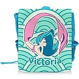 Kinder-Rucksack mit Namen Victoria und schönem Meerjungfrau-Motiv in Türkis für Mädchen