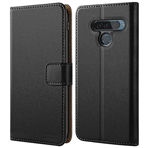 HOOMIL Handyhülle für LG G8S ThinQ Hülle, Premium PU Leder Flip Schutzhülle für LG G8S ThinQ Tasche, Schwarz