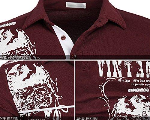 Herren Premium Eagle Langarm Kragen / Poloshirts T-Shirts Polo Shirts Charcoal