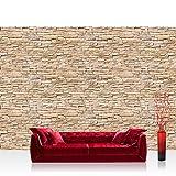 Fototapete 350x245 cm - ALLE TOPSELLER auf einen Blick ! Vlies PREMIUM PLUS - ASIAN BRICK STONE WALL - Steinwand Steintapete Wand Wall 3D Steinmauer Steintapete - no. 078