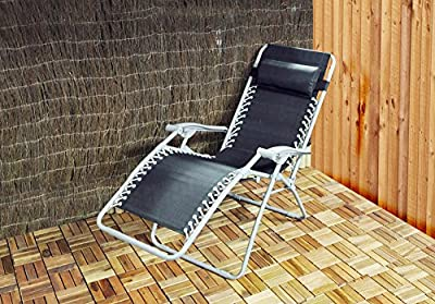 Kingfisher Gravity Garden Reclining Sun Chair Lounger - inexpensive UK light shop.