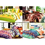 Vowsy Fusion Combo Of 4 Bed Sheets With Pillow Covers - P4BS2
