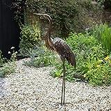 Creekwood 48061Statue de Héron Ornement 115cm de Hauteur, Bronze, 55x 15x 115cm