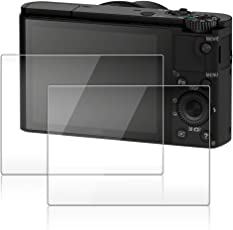 Display Schutz für Sony RX100III RX100II RX100 IV V RX 1R RX100V RX10III Kamera, AFUNTA 2 Pack Anti-scrach gehärtetes optisches Glas