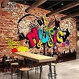 Personalisierte Creative 3D Musik Mauern der Stadt Modische klassische Tapete Retro Persönlichkeit industriellen Papier Urban stilvollen, klassischen Tapeten, weißer Reis Stroh Thread/Flat-Seam Zusammenfügen