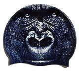 SWIMXWIN Cuffia in Silicone King Kong   Cuffia da Nuoto  Grande Comfort e aderenza   Design e Stile Italiano